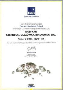 Certyfikat Diament Forbesa